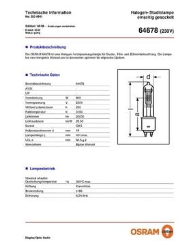 5x Osram 64678 HX 800W 230V G9,5