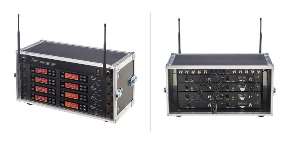 8-fach Funksystem mit Antennensplitter