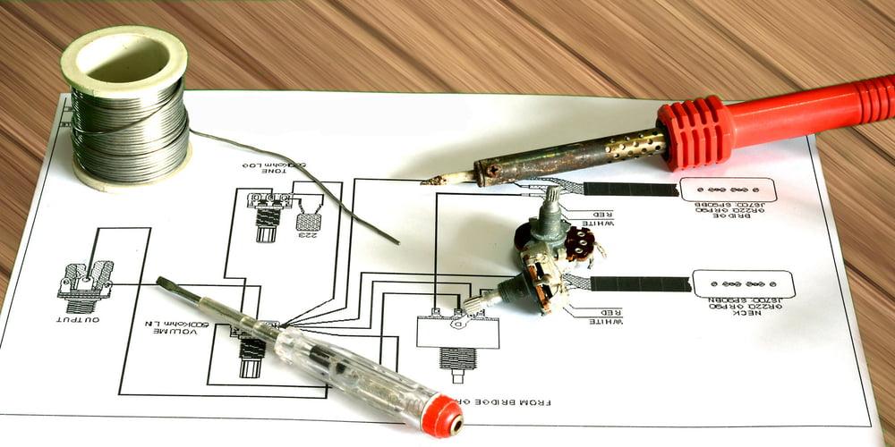göldo Kabel für Pickup /& Schalter Verdrahtung  1 Meter  4-adrig  wiring cable