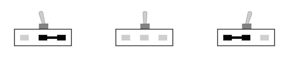 1-poliger Umschalter ( ON/OFF/ON)