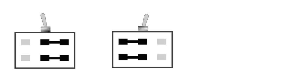 2-poliger Umschalter ( ON/ON)