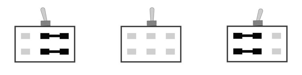 2-poliger Umschalter ( ON/OFF/ON)