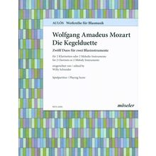 Möseler Verlag Mozart Kegelduette Clarinet