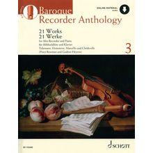 Schott Baroque Recorder Anthology 3