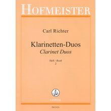 Friedrich Hofmeister Verlag Richter Clarinet Duos 2