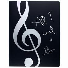 agifty Music Folder ViolinClef Silver
