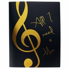 agifty Music Folder Violin Clef Gold