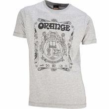 Orange T-Shirt Crest Grey L