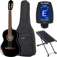 Thomann Classic Guitar 3/4 Blac Bundle