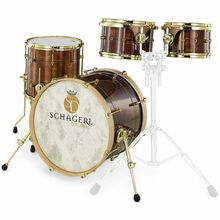 Schagerl Drums Dark Vintage Studio Kit Gold