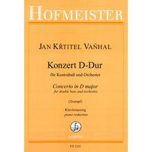 Friedrich Hofmeister Verlag Vanhal Concert D-Dur Kontrabas