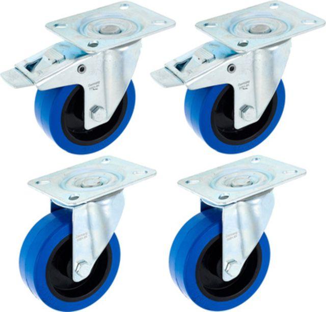 Millenium Blue Wheel Bundle 100 mm