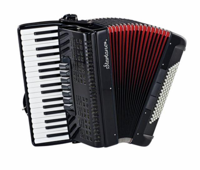 Startone Piano Accordion 96 Black MKII