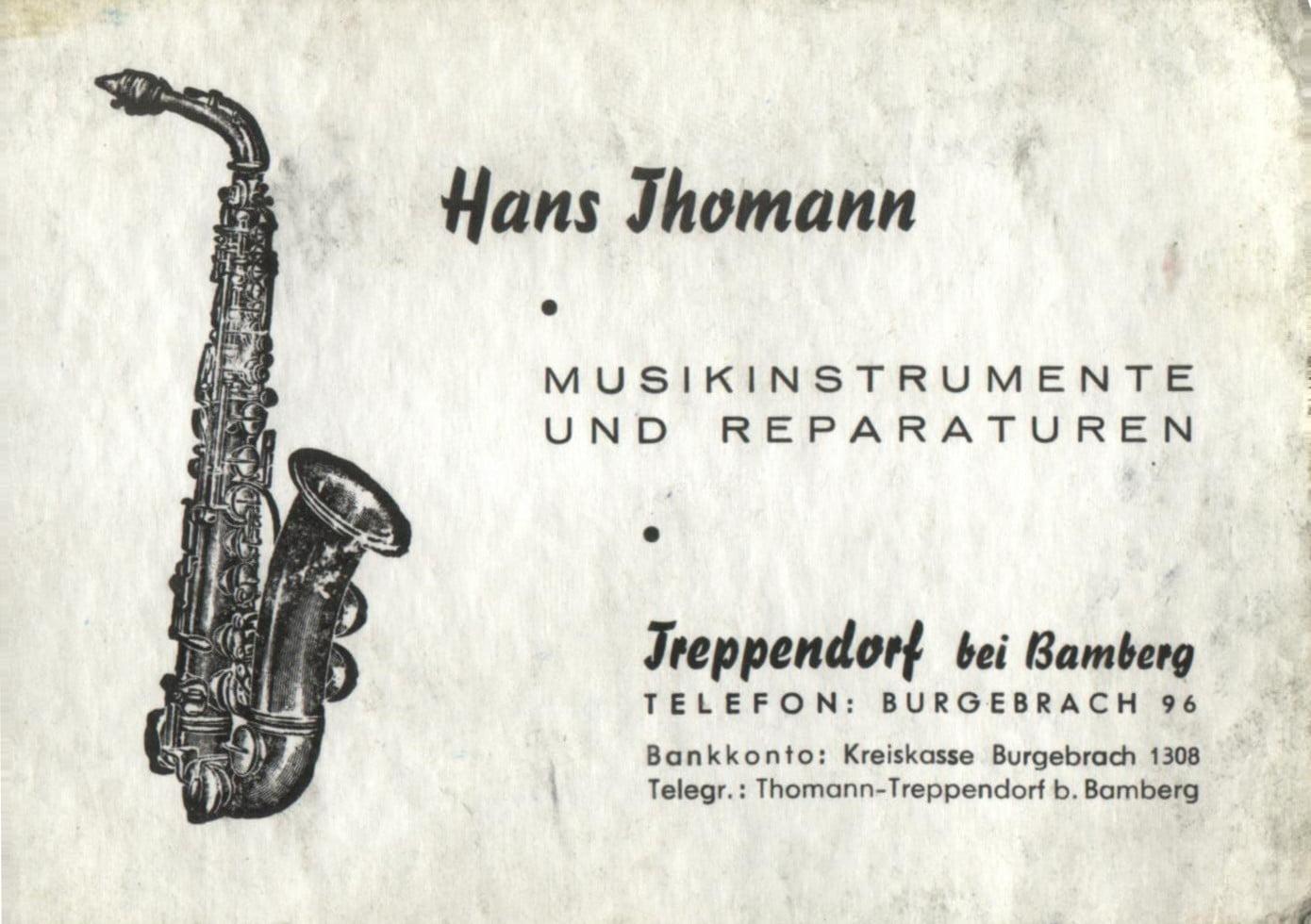 business card hans thomann