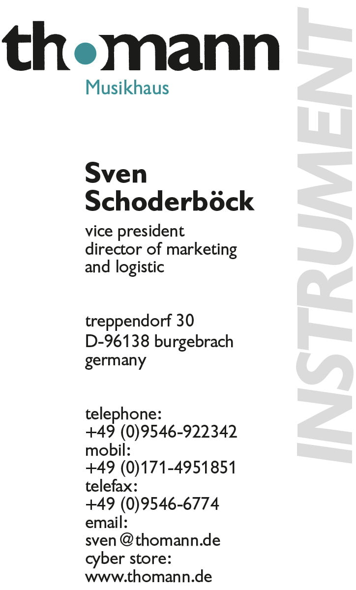 business card example english