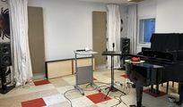 Musikraum Tonstudio m. Klavierflügel, schalldicht Akustik Lüftung