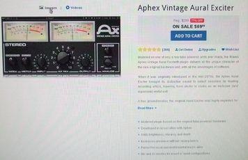 Aphex Exciter Plugin von Waves (unbenutzter Lizenzcode)