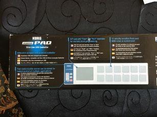 Nano Pad Korg slim line USB controller