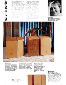 Schlagwerk Cajon Infoblatt