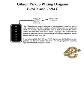 Gibson P94R BC Pickup     Thomann United States