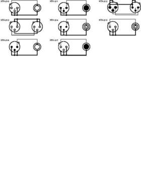 Monacor NTA XLR Adapter Zeichnung