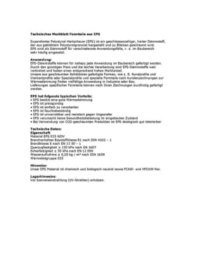 Merkblatt Formteile EPS