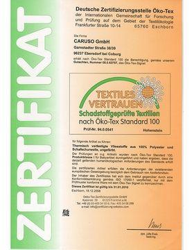 Zertifikat Öko-Tex