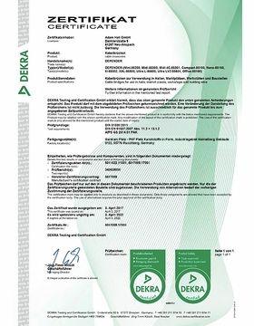 Dekra Zertifikat