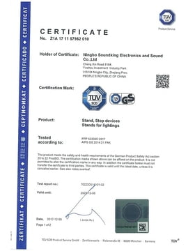 TÜV certification