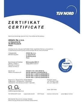 TÜV Zertifikat bis 2022