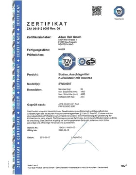 TÜV-Zertifikat