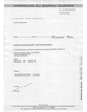 Fire Resistance Zertifikat
