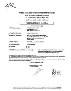 M1 certificate FR