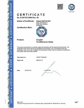 TÜV-Certificate