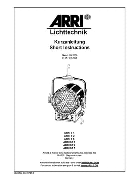 Manual: ARRI True Blue