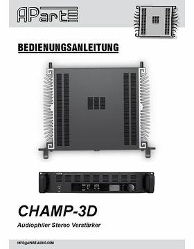 Bedienungsanleitung Champ3D