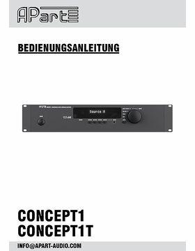 Bedienungsanleitung Concept1