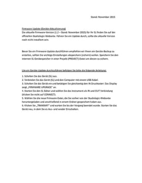 Bedienungsanleitung: Firmware-Update