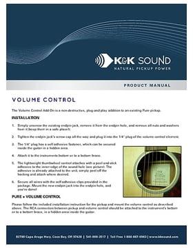 Manual: Volume control