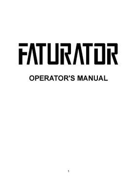 Manual Faturator
