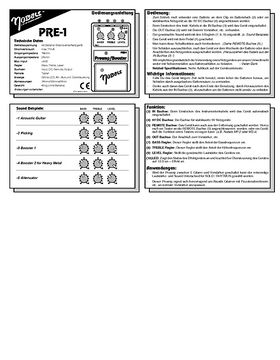 PRE-1 Bedienungsanleitung