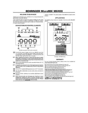 Behringer mx400 – thomann uk.