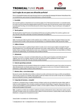 8 reglas para una afinación perfecta