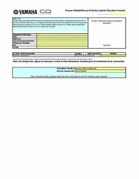 EDU Form FR