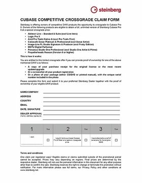 Crossgrade Claim Form