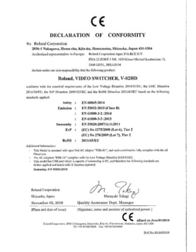 Certificate of Confirmity