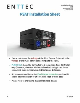 PSAT Installation sheet