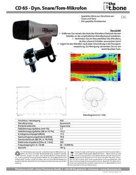 Datenblatt: CD 65