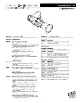 ETC Source Four 14° Profiler Technische Daten