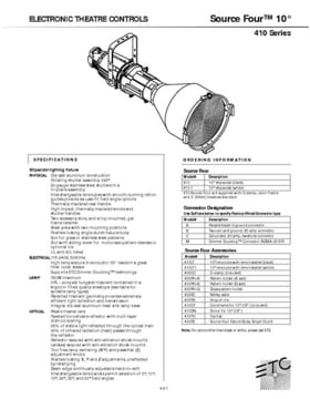 ETC Source Four 10° Profiler Specs